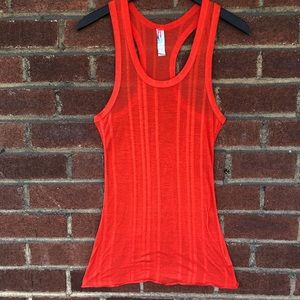 Free People red FP beach racerback tank top Small